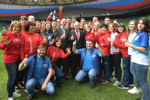 Vladimir Putin Meets with Students from MGIMO FIFA Volunteer Centre