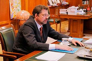 Anatoly Torkunov Welcomes Director of Russian UN Information Center