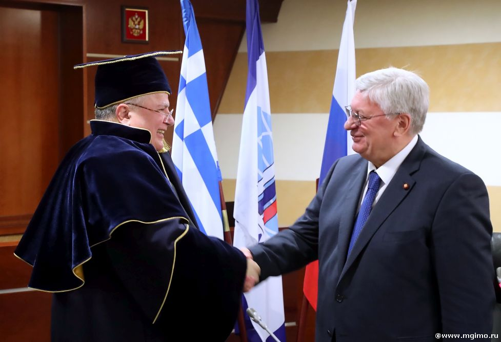 Greek Foreign Minister Becomes MGIMO Honorary Doctor