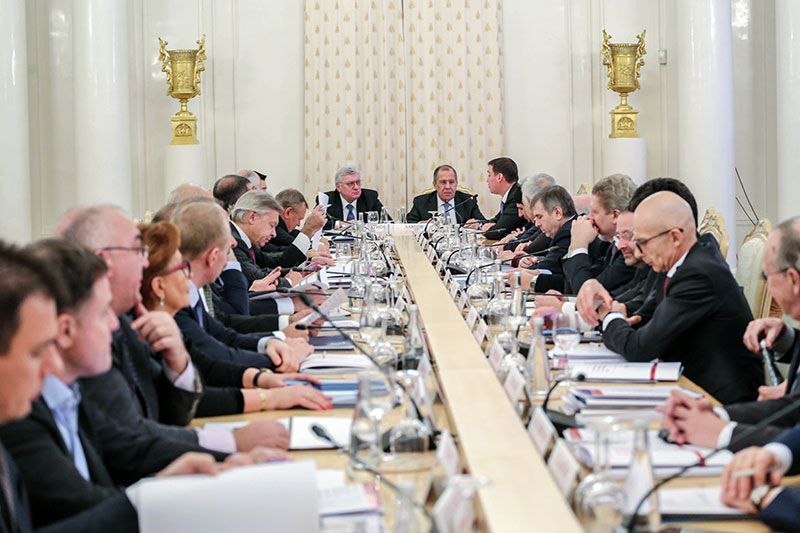 Sergey Lavrov at MGIMO Supervisory and Board of Trustees Meeting