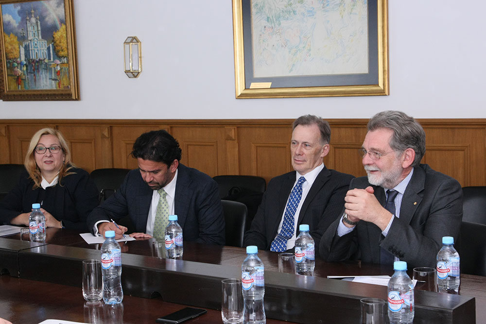 Delegation from Australian National University at MGIMO