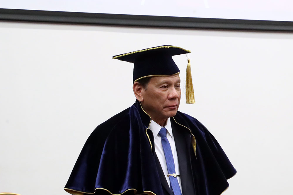 President of the Philippines Rodrigo Roa Duterte Conferred MGIMO Honorary Doctorate