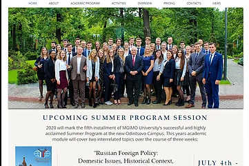 The Brand New MGIMO Summer Program Website is Live