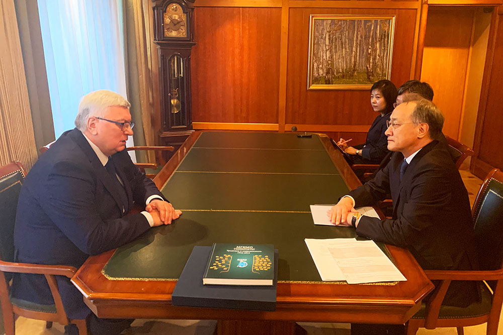 Ambassador of Republic of Korea Comes to MGIMO