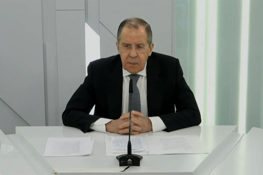 Sergey Lavrov at MGIMO. Online