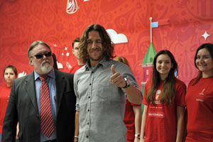 Carles Puyol Visits MGIMO's 2018 World Cup Volunteer Center