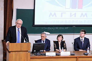 Russian Deputy Foreign Minister Sergei Ryabkov Gives Talk at MGIMO