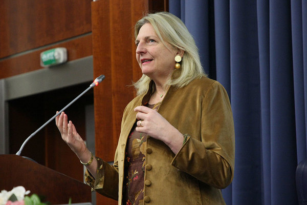 Karin Kneissl Speaks at MGIMO. Online